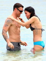 Megan Fox wearing tiny bikini on the beach in Maui from Kendra Exposed