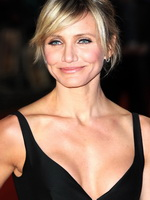 Cameron Diaz showing cleavage at the 'Gambit' world premiere in London from CelebMatrix