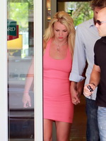 Britney Spears braless showing pokies in tight short dress from Kendra Exposed