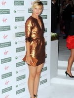 Maria Sharapova leggy in mini dress at Wimbledon Tournament party from CelebMatrix