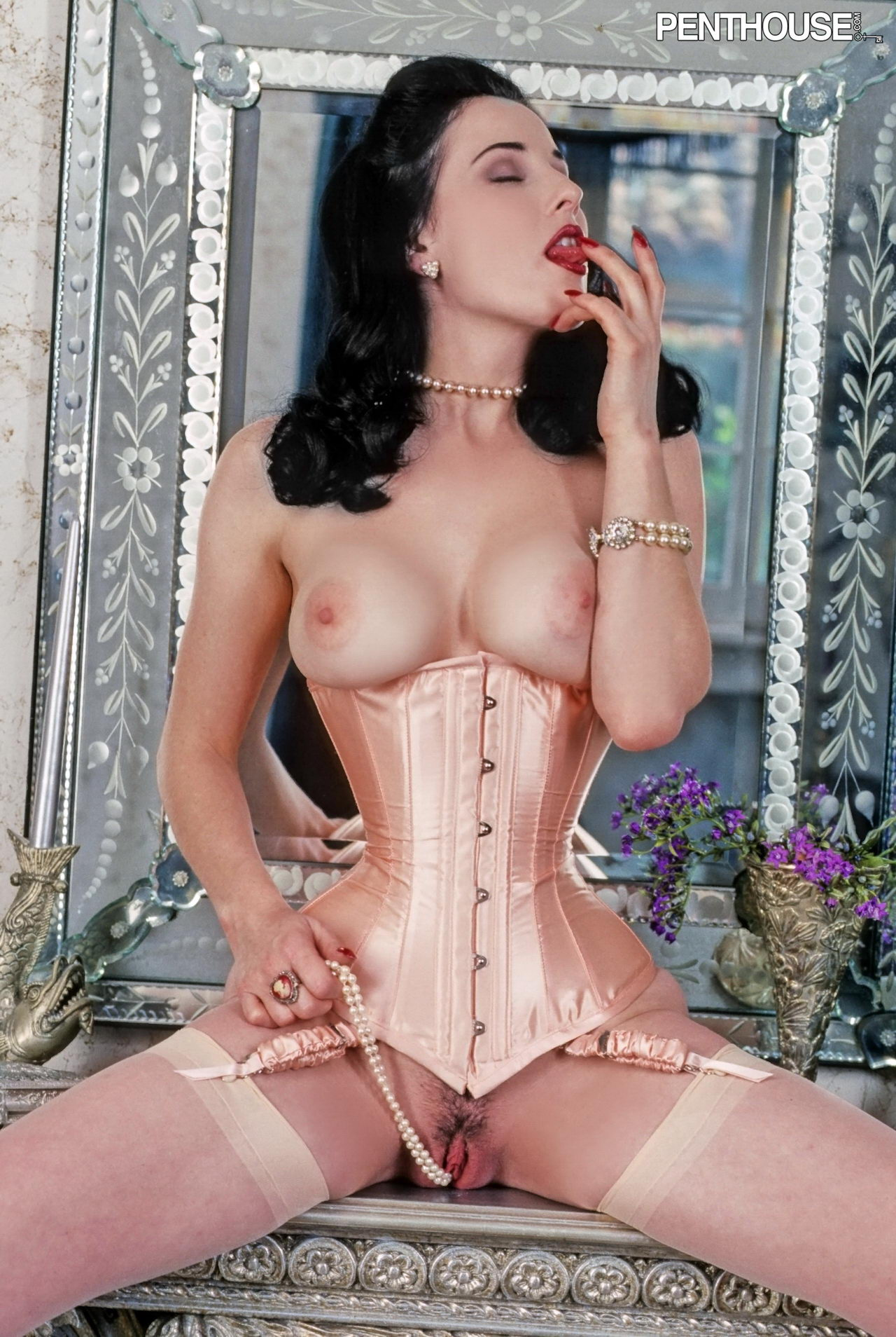 Stunning. dita von teese her pussy love those