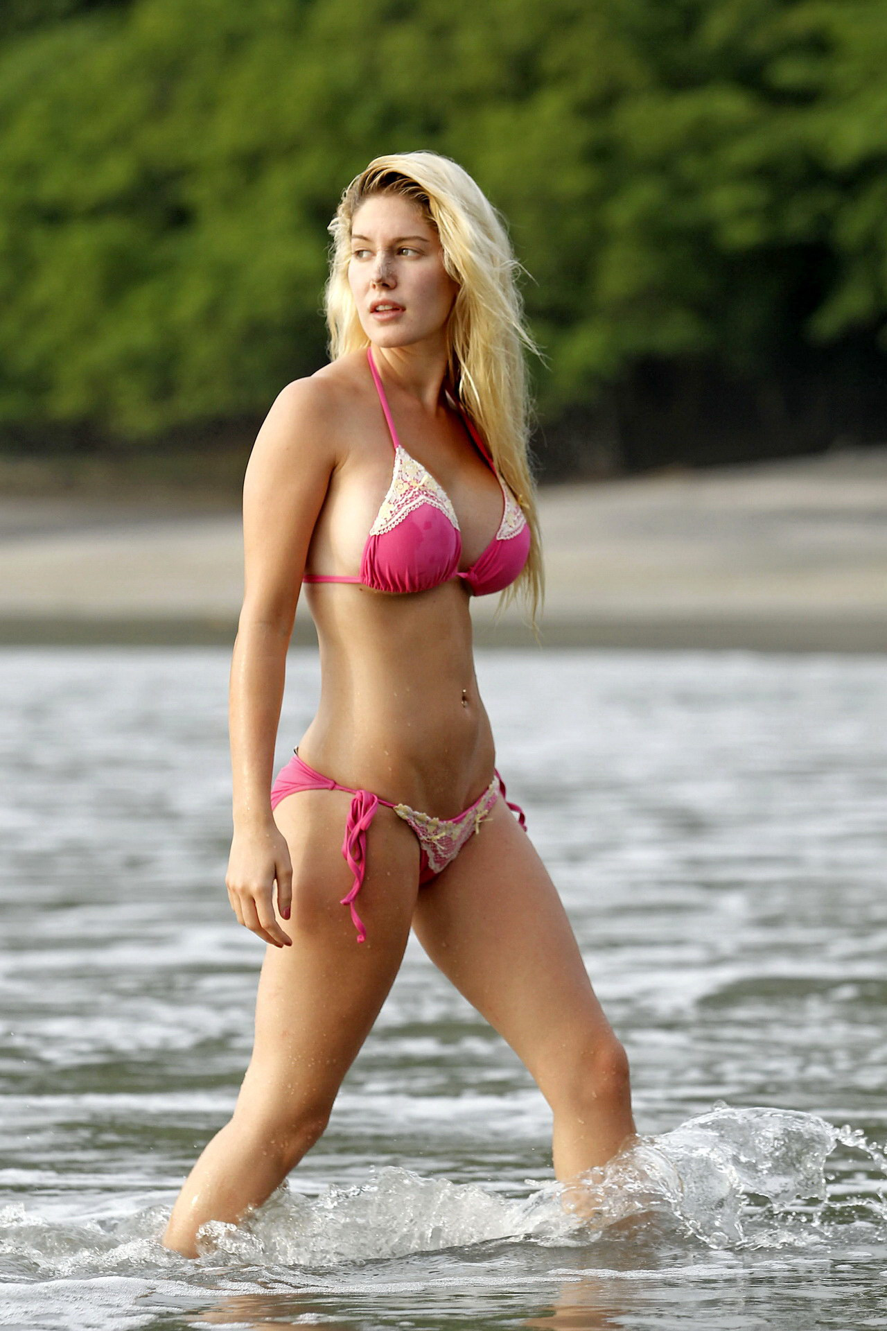 Heidi Montag Shows Off Killer Body During Family Beach Trip