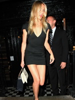 Cameron Diaz wearing a nasty short tight dress at her birthday celebration in NYC from CelebMatrix