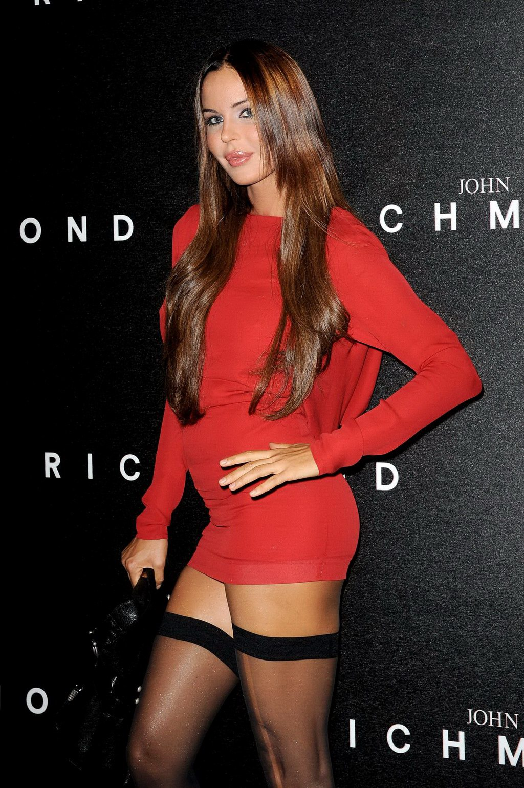 nina moric flashing her pussy at the john richmond milano fashion week