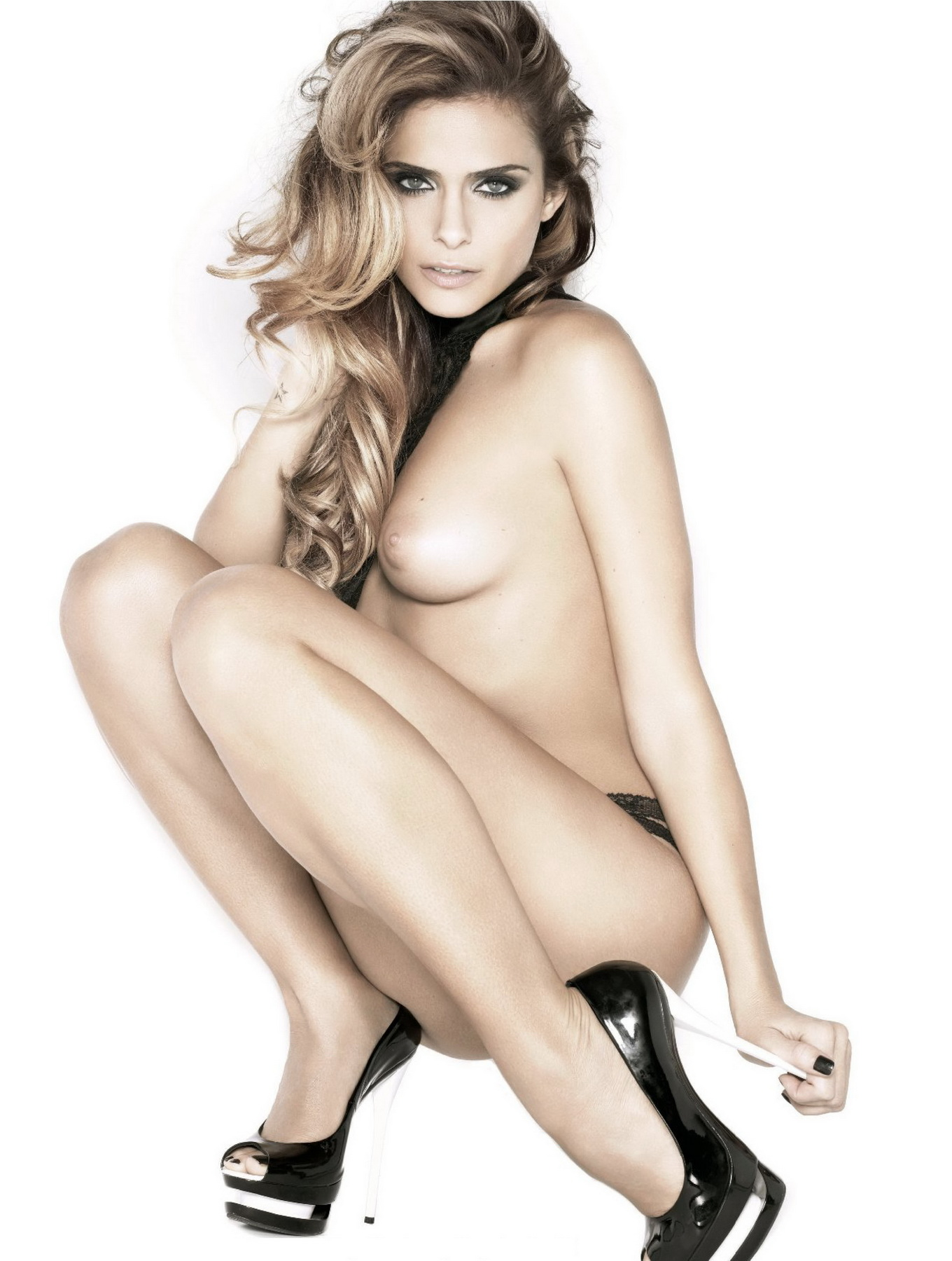 Clara Morgane Posing Nude For December 2010 Issue Of -3600