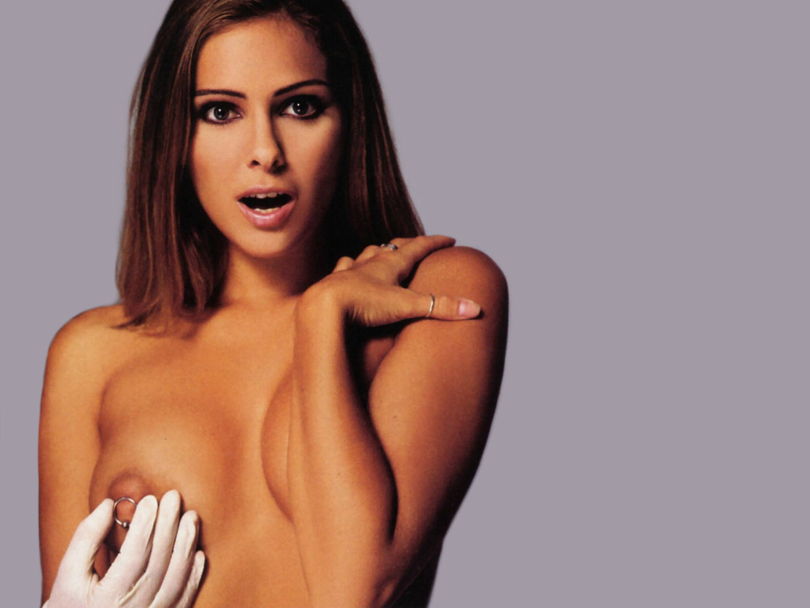 Clara Morgane posing nude for December 2010 issue of French FHM 'zine