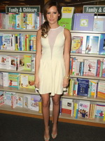 Ashley Tisdale leggy wearing little white dress at 'Sharpay's Fabulous ...