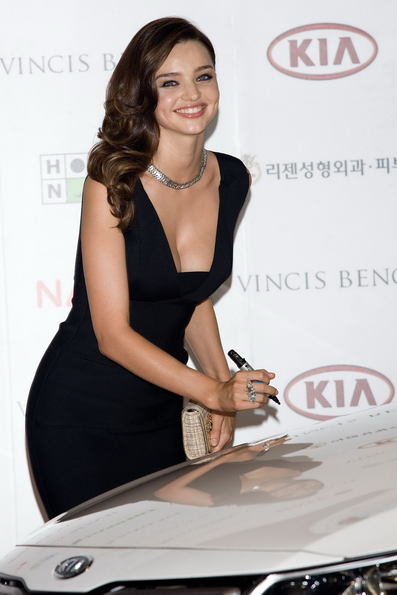 Miranda Kerr Downblouse While Promoting Kia In Seoul From Celebmatri