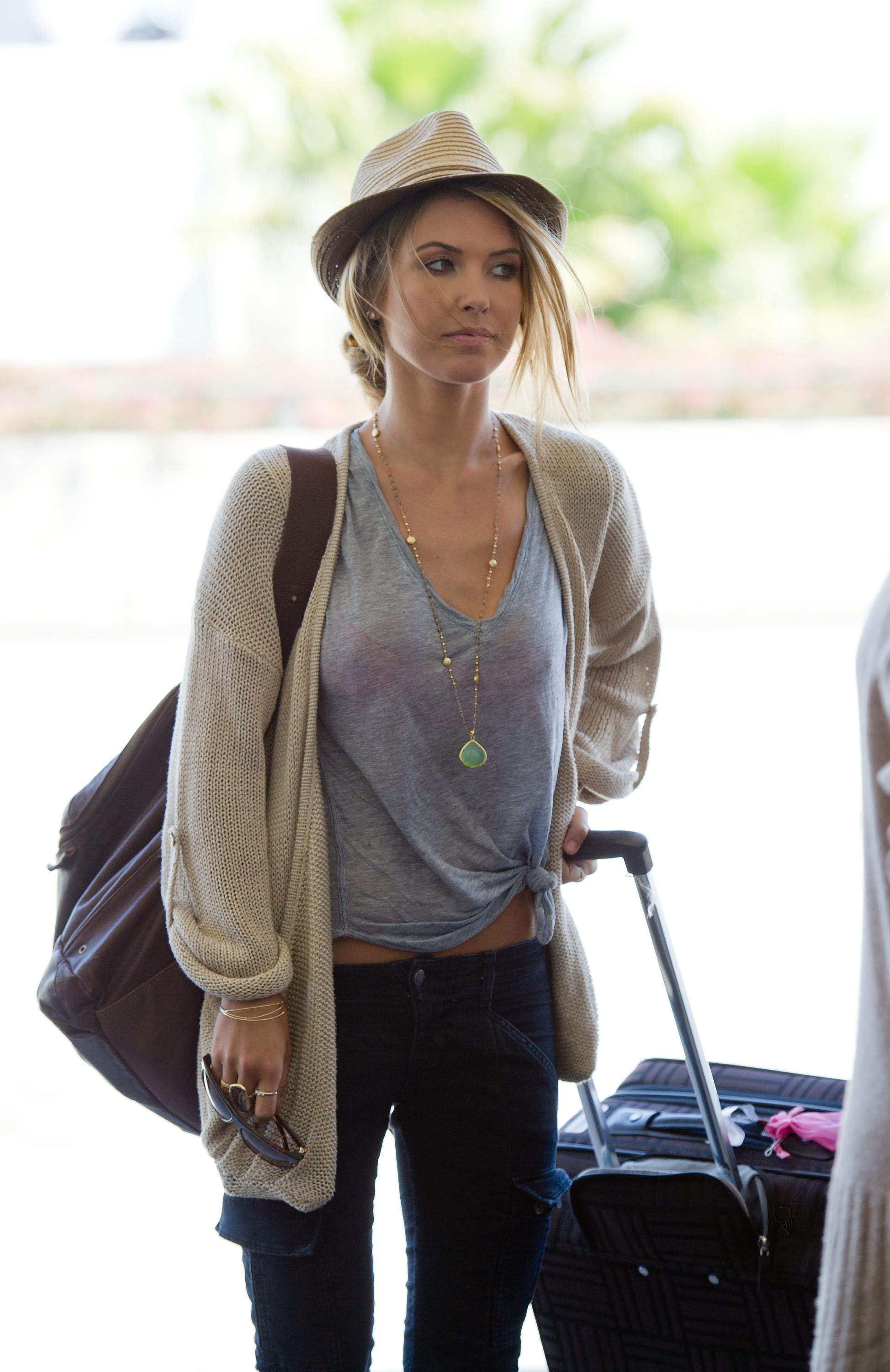 audrina patridge in seethrough departing from the lax airport