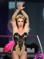 Britney Spears showing off her ass in leotard  fishnets on stage in Jacksonville, Florida from CelebMatrix