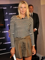 Maria Sharapova leggy promoting the latest collection from Head in NYC from CelebMatrix
