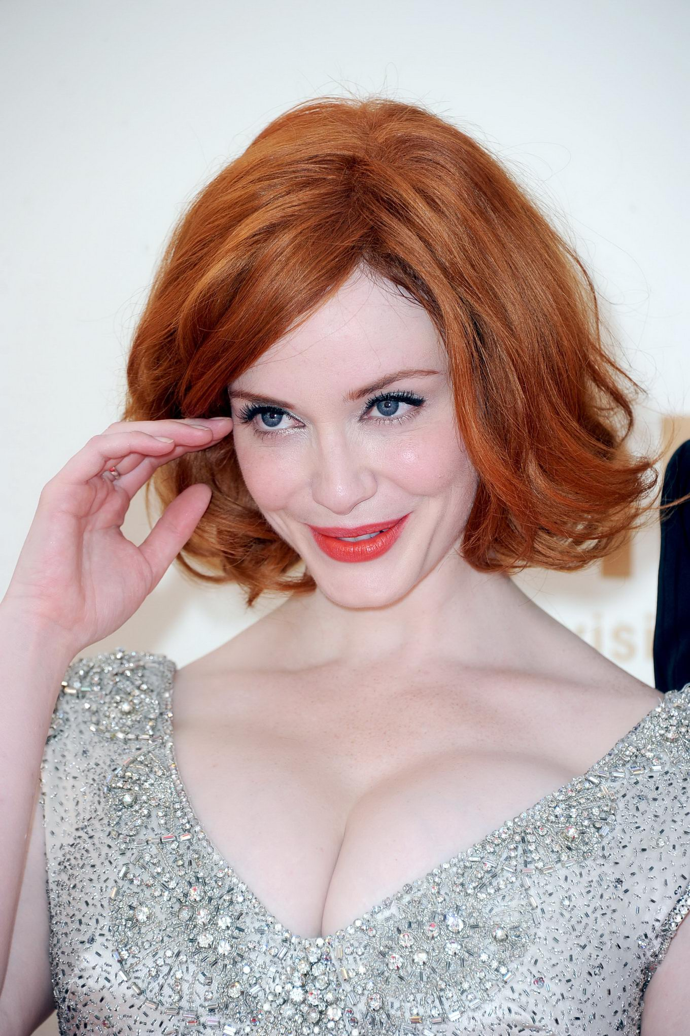 Christina hendricks showing her enormous cleavage at 63rd for The hendricks
