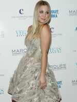 Kaley Cuoco showing huge cleavage at Vegas Magazine launch party from CelebMatrix