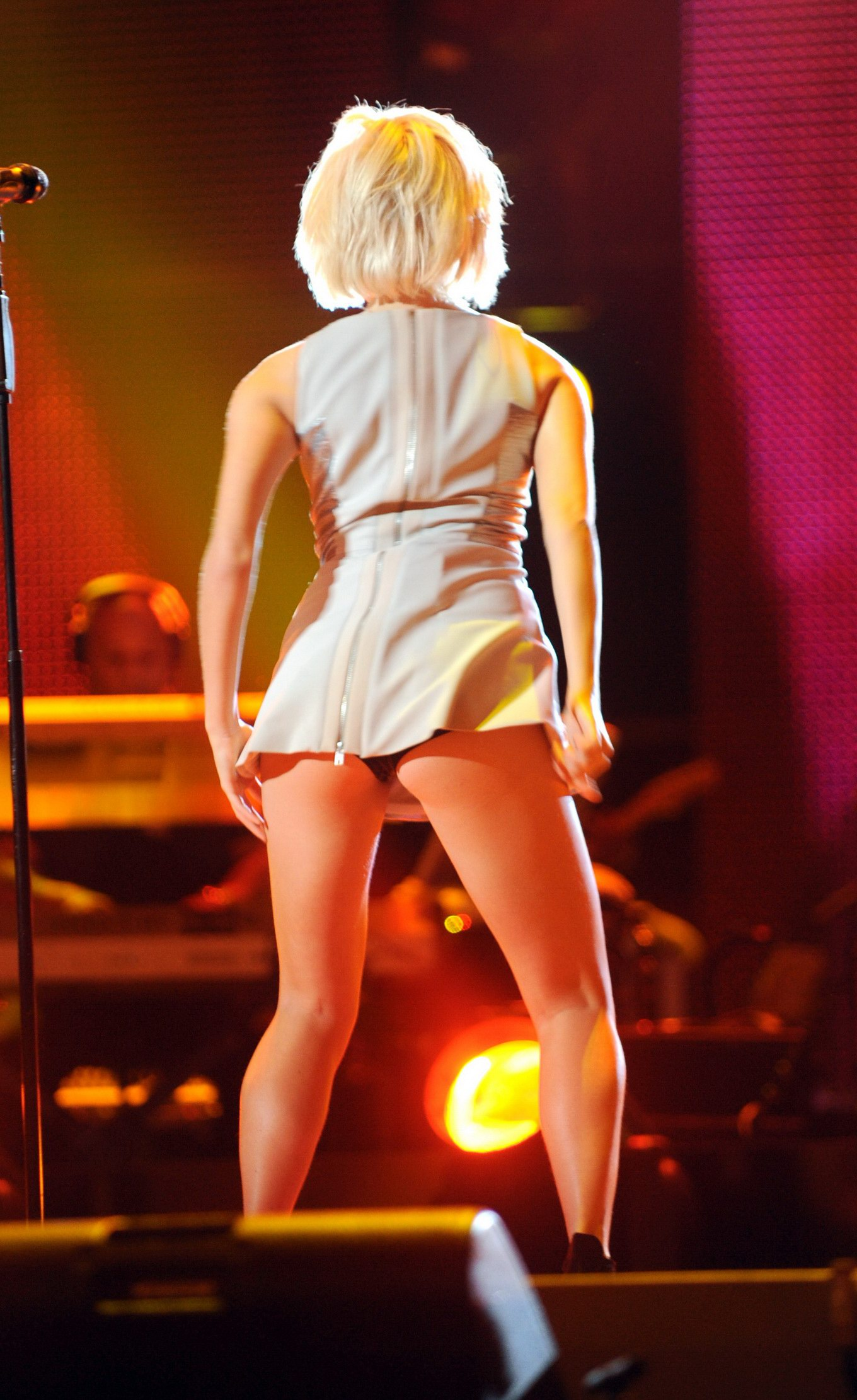Pixie Lott Upskirt At Michael Forever The Tribute Concert In Cardiff