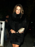 Elizabeth Hurley leggy leaving C London Restaurant in Mayfair Hotel from CelebMatrix