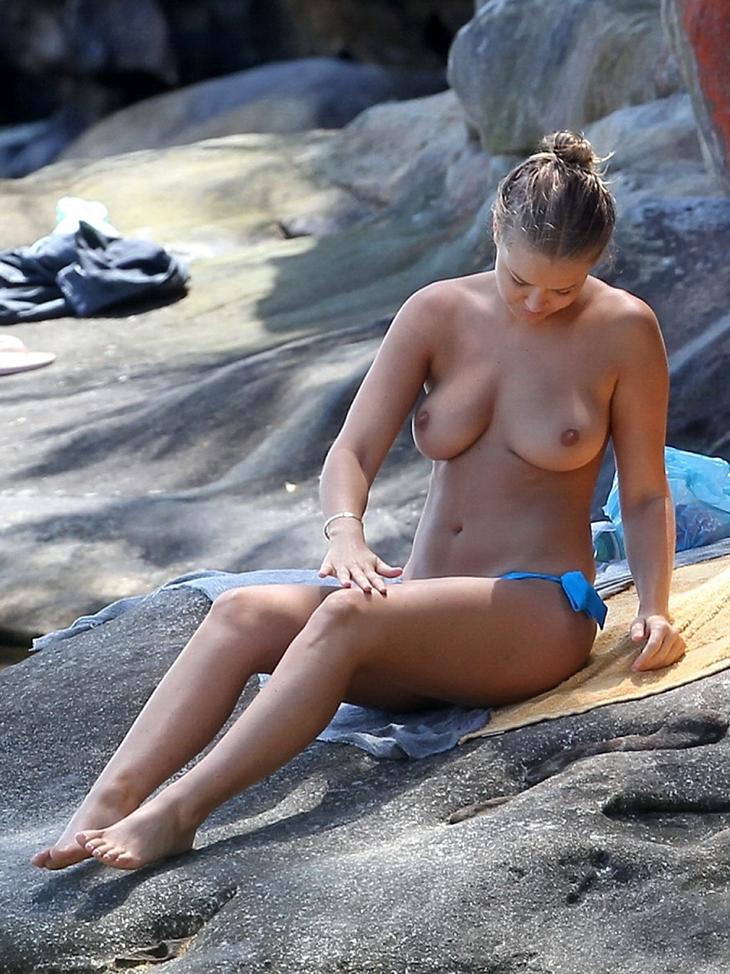 You Kim naked on beach