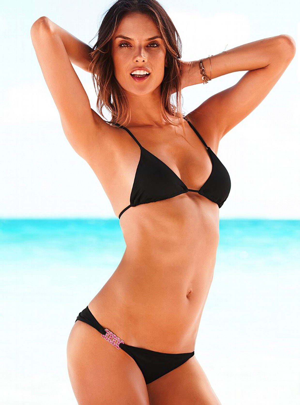 alessandra ambrosio in victoria s secret bikini collection