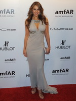 Elizabeth Hurley showing awesome cleavage at the NY Fashion Week kick off gala from CelebMatrix