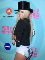 Jenna Jameson showing off her ass in fishnets  leotard at Perez Hilton's 34th Birthday  Mad Hatter's Ball in LA from CelebMatrix