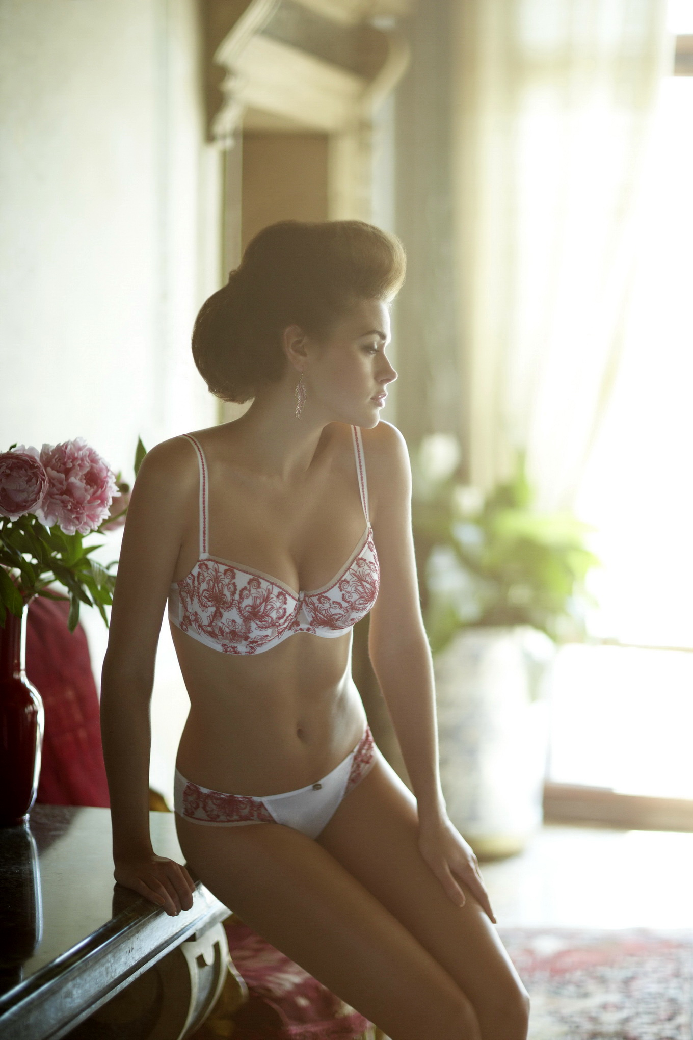 Natalia Belova in very sexy Panache Lingerie Spring/Summer ...