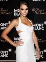 Jessica Alba looks very hot wearing a tight white dress at the opening of Mont Blanc's Concept Store in Beijing from CelebMatrix