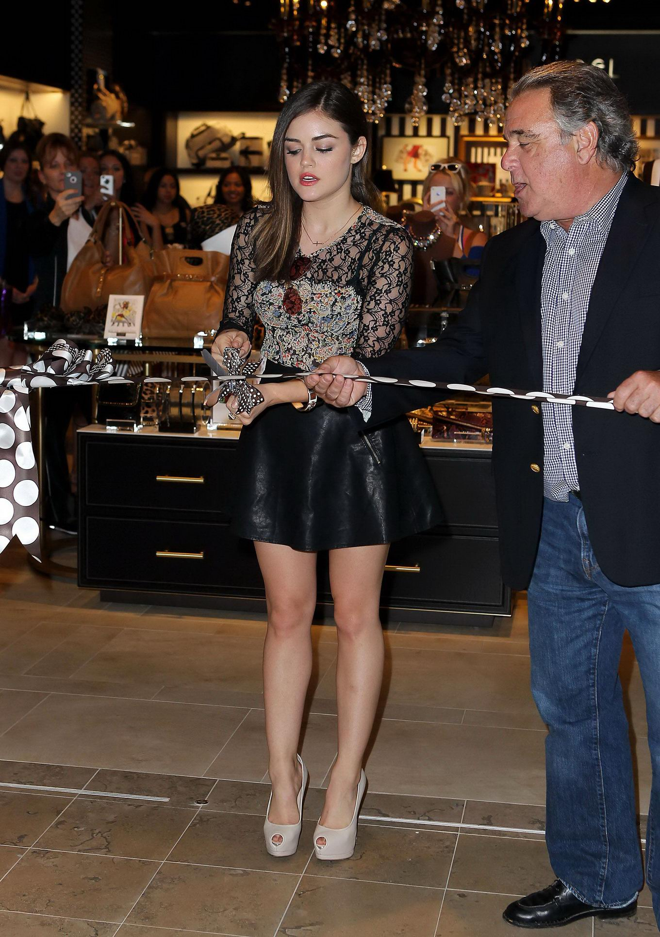 ... skirt opening the Henri Bendel store at Fashion Show Mall in Las Vegas