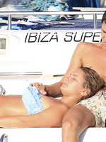 Sam Faiers in bikini getting groped on a boat in Ibiza from CelebMatrix