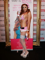 Maria Fowler wearing lingerie  stockings at The Clothes Show Live 2012 in Birmingham from CelebMatrix