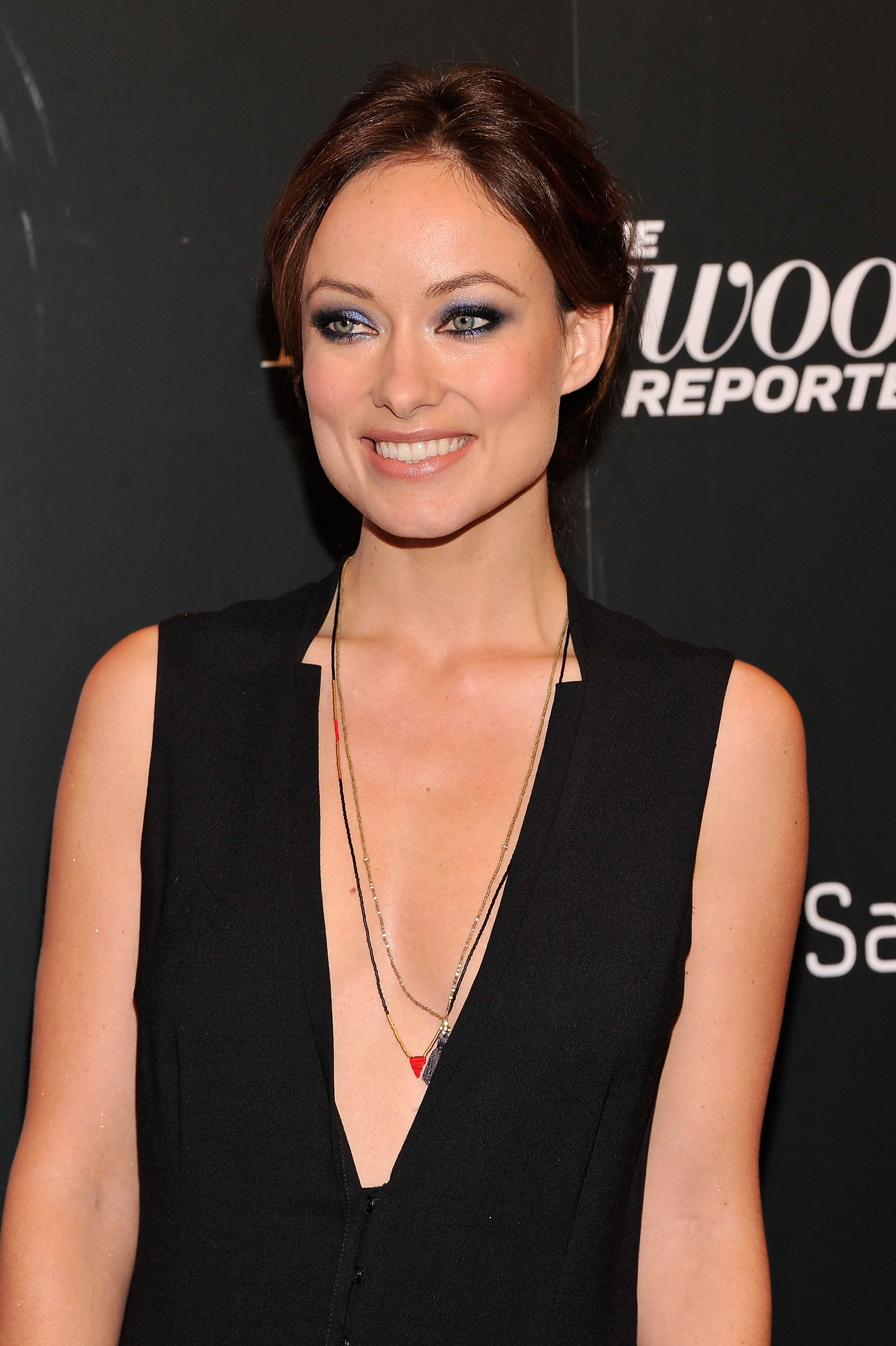 Olivia Wilde Profile And New Pictures 2013: Olivia Wilde Braless Wearing A Wide Open Top At 'Django