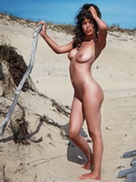 Paz De La Huerta showing off her boobs  shaved pussy in very hot photoshoot from CelebMatrix