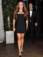 Tamara Ecclestone leggy  cleavy wearing a skimpy black dress at Giorgio Baldi in Santa Monica from CelebMatrix