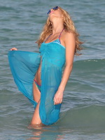 Erin Heatherton wearing bikini  summer dresses at the photoshoot in Miami from CelebMatrix