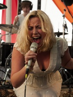 Charlotte Church busty  see through to undies at Blissfields Festival in Winchester, England from CelebMatrix