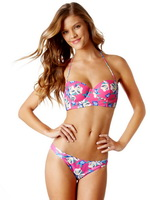 Nina Agdal showing off her bikini body in Aerie Swimwear photoshoot from CelebMatrix