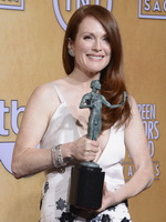 Julianne Moore braless showing cleavage at 19th Annual Screen Actors Guild Awards from CelebMatrix