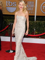 Naomi Watts cleavy wearing a tube maxi dress at 19th Annual Screen Actors Guild Awards from CelebMatrix