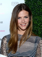 Brooklyn Decker see through to bra at Vanity Fair  Juicy Couture Celebration of the 2013 Vanities Calendar in LA from CelebMatrix