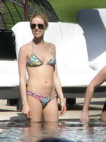 Kristin Cavallari showing off her ass in bikini poolside in Mexico from CelebMatrix