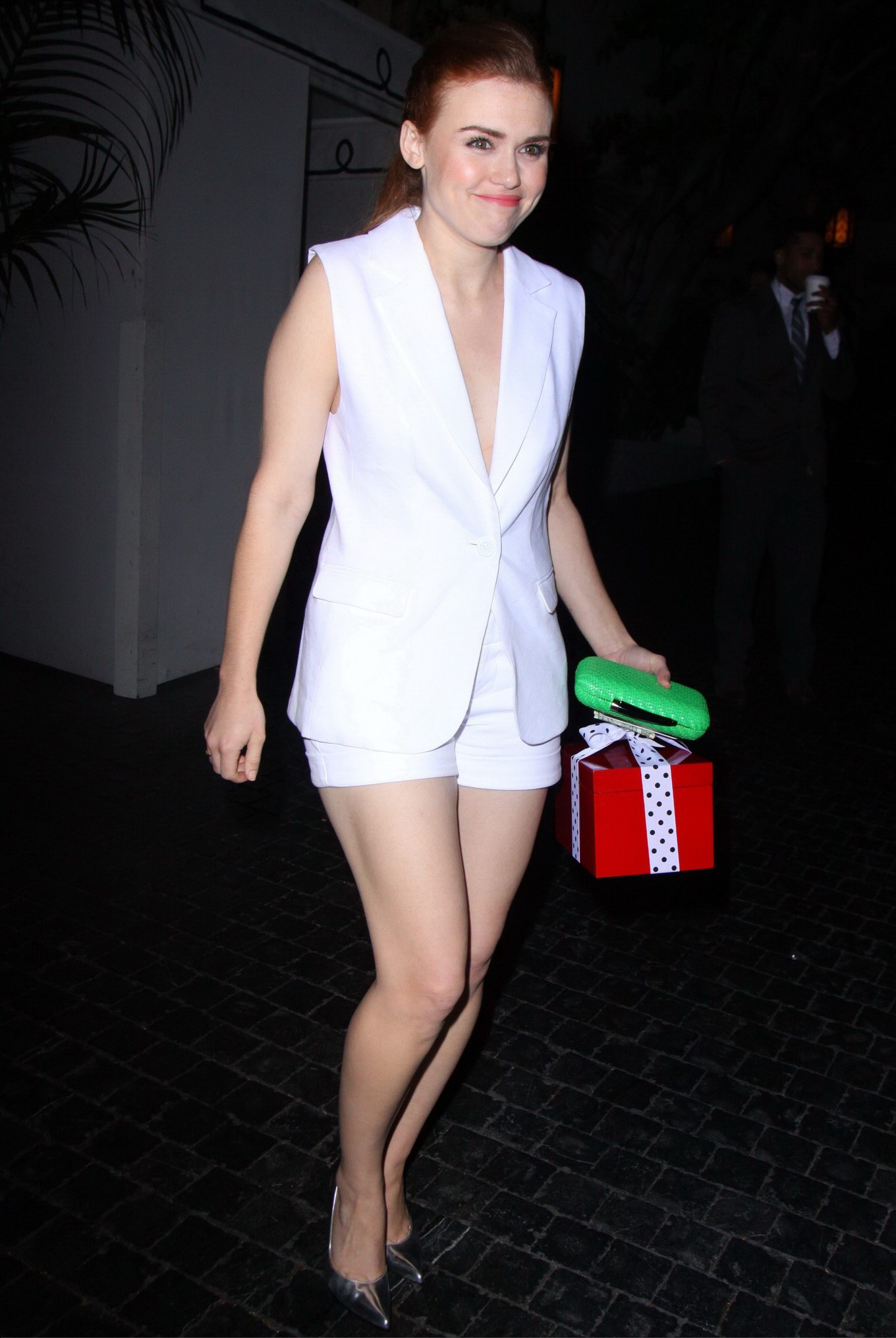 Holland Roden Nipple Slip Outside The Chateau Marmont In West