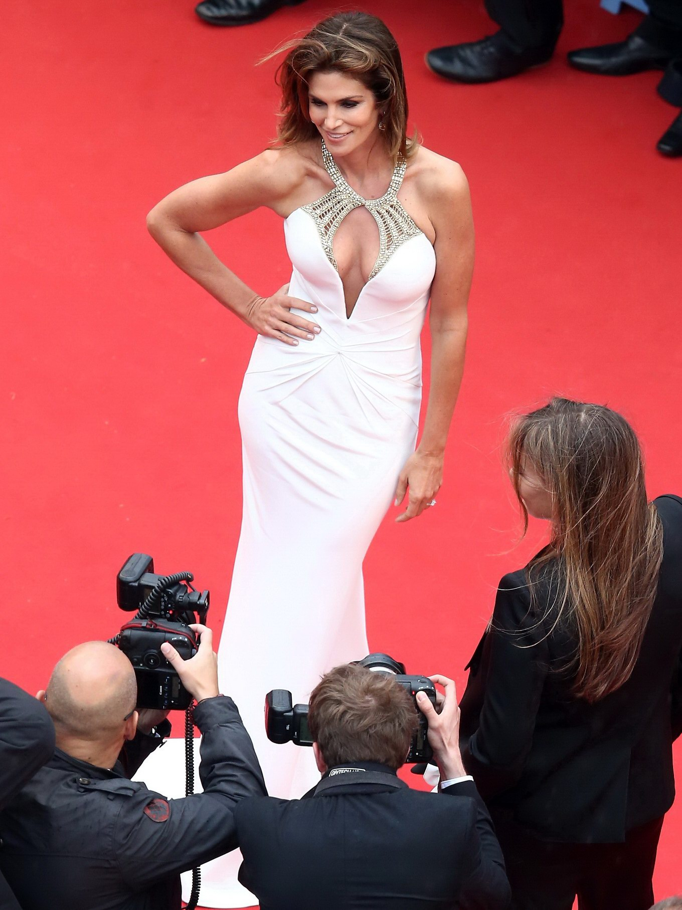 ... huge cleavage at the 66th annual Cannes Film Festival opening ceremony: www.celeb-for-free.com/pics/celeb4542/cindy_crawford_horny_freeones...
