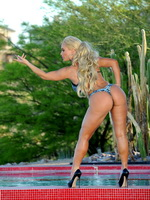 Nicole Coco Austin showing off her booty in an exclusive bikini photoshoot in Las Vegas from CelebMatrix