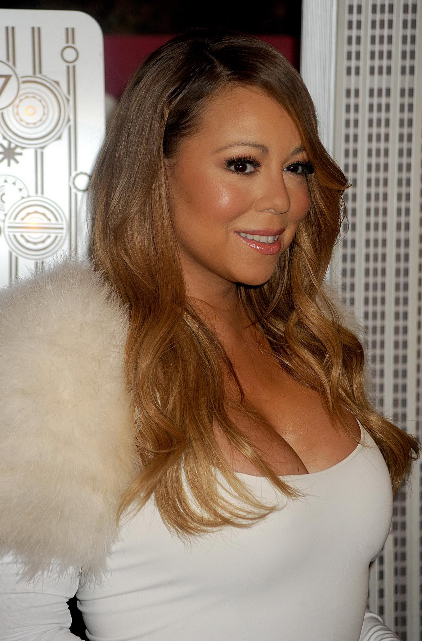 Matchless Mariah carey big cleavage were