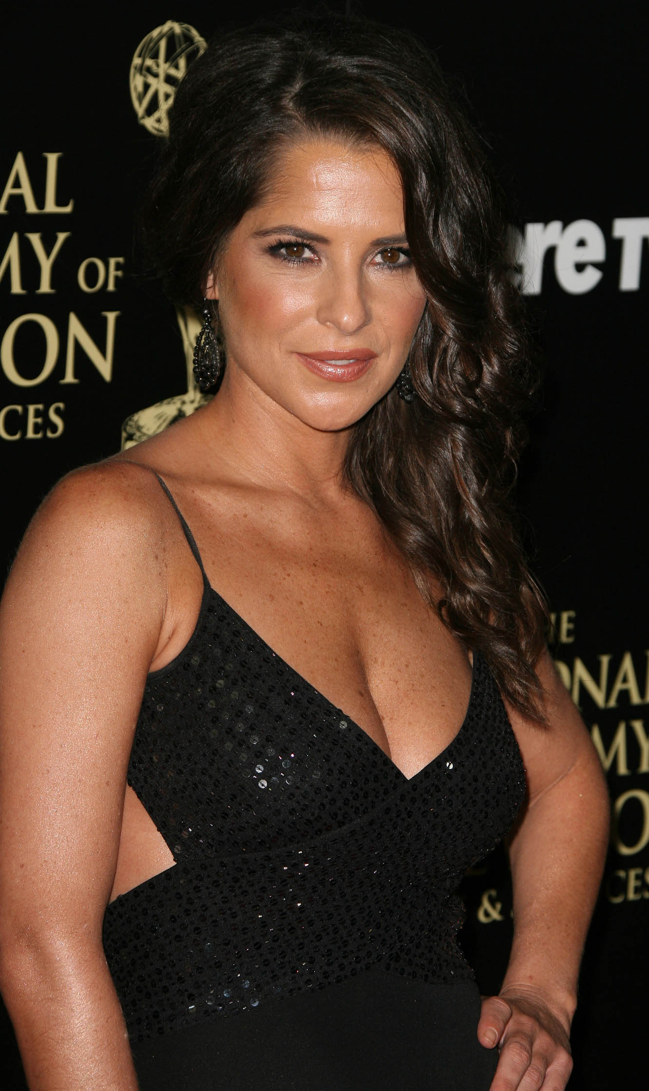 kelly monaco showing huge cleavage at the 41st annual