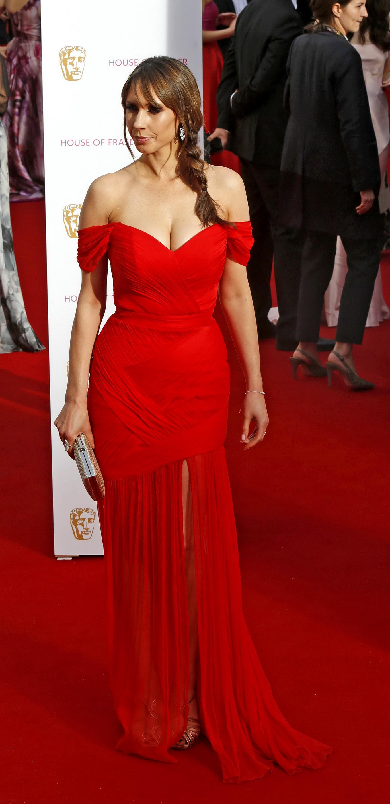 Alex Jones showing huge cleavage at the BAFTA Awards in London: www.celeb-for-free.com/pics/celeb6678/topcelebs.html