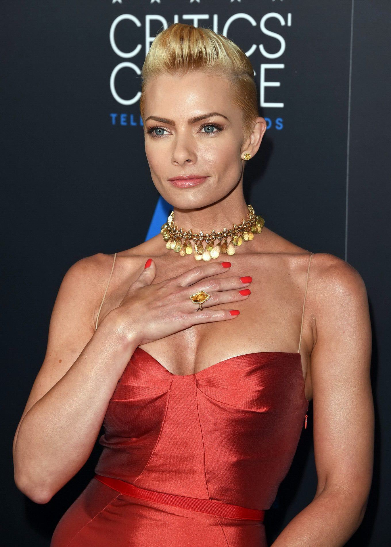 Jaime Pressly Showing Huge Cleavage At The 5Th Annual -5260