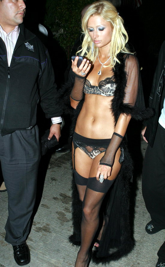 ... print lingerie at Hugh Hefner's birthday party. See more pics here