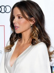 Kate Beckinsale wears white plunging high-slit gown at 37th Critics' Circle Film Awards in London