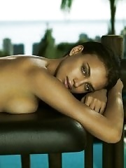 Irina Shayk nude but hiding for Germaine de Cappuccini Xperience photoshoot