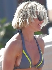 Cameron Diaz wearing skimpy bikini on a Hawaiian beach