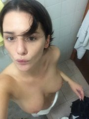 Addison Timlin shows off her bare boobs & shaved crotch - leaked nude photos